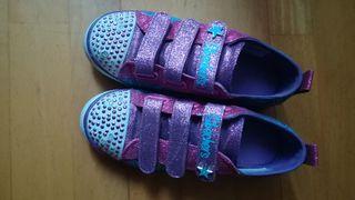 zapatillas, bambas niña marca Skechers n35, luces