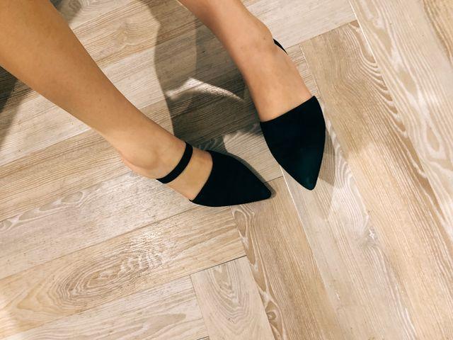 &other stories black suede kitten heels