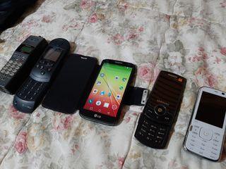 conjunto de móviles antiguos
