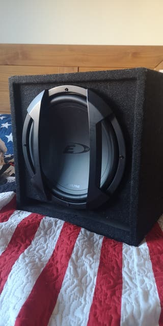 subwoofer alpine type e 12""