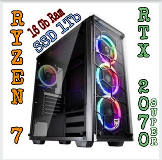Pc Gamer Ryzen 7 RTX 2070 SUPER 16Gb Ram