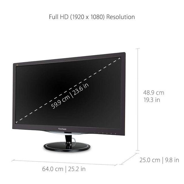 "MONITOR LED 24"" VIEWSONIC VX2457-MHD MMEDIA HDMI"