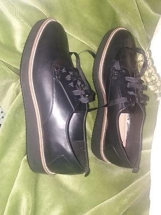zapato mujer plano negro