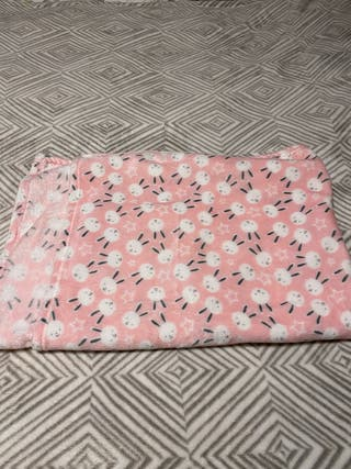 Pink baby bunny blanket