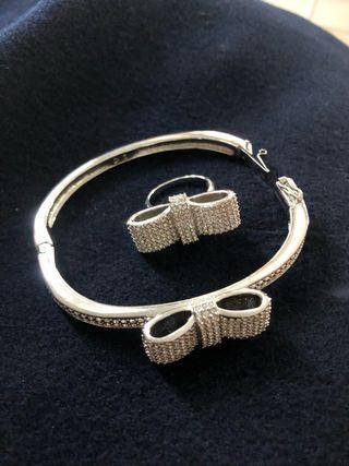 Pulsera y anillo lazo Swarovski