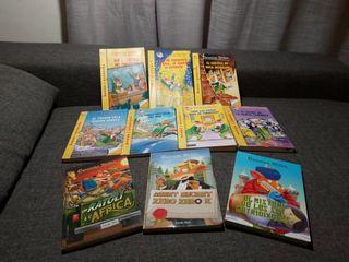 pack de 10 libros Geronimo Stilton