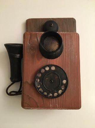 Teléfono antiguo caja para llaves