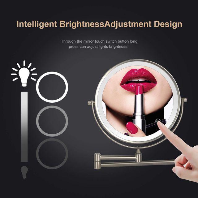 Espejo de Maquillaje con Luz LED