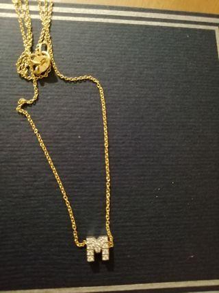 Cadena y colgante oro y diamantes