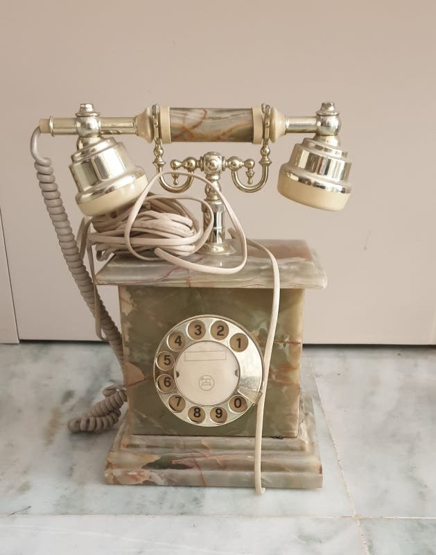 Teléfono decoracion mármol antiguo