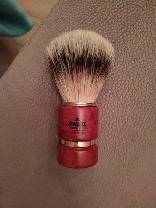 Brocha de Afeitar Omega con Pelo de Tejón Natural