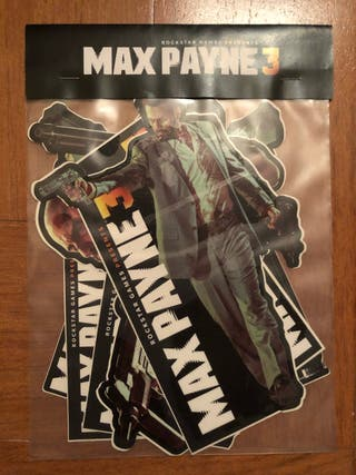 MAX PAYNE 3, vinilos set press kit rockstar