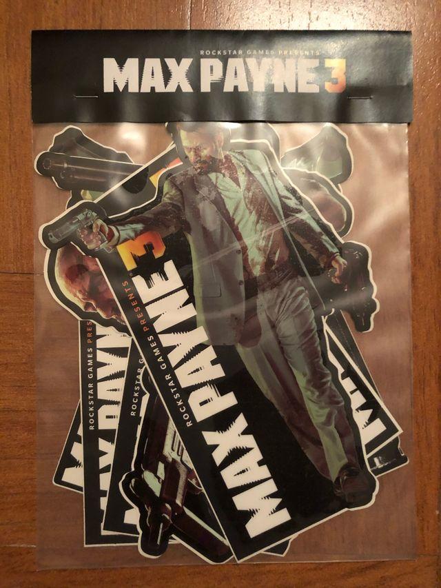 MAX PAYNE 3, vinilos set press kit rockstar