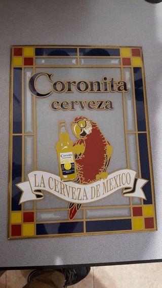 coronita cerveza Cristal decorativo