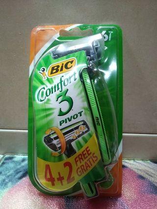 bic comfort cuchillas 3 filos 6unidades=3e