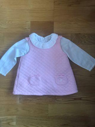 Vestido y camisa body bebé