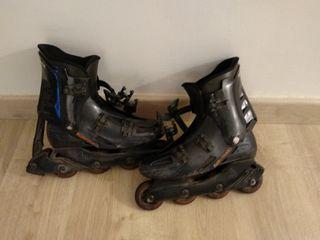 patines en linea+rodilleras Rollerblade+ bolsa pat