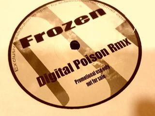 disco de vinilo FROZEN digital Poison nuevo