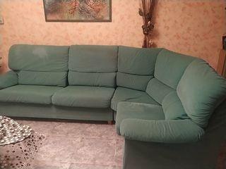 sofa rinconera verde
