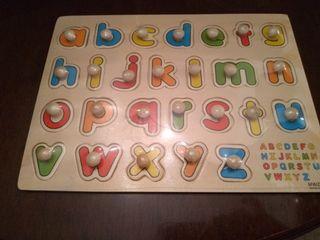 Puzzle letras de madera