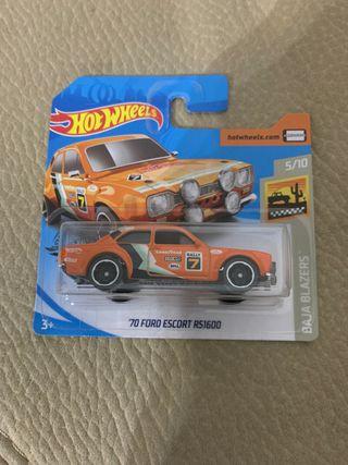 Coche Hot wheels 70 Ford escort es 1600
