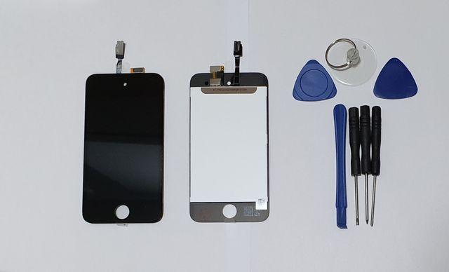 Pantalla táctil LCD negro para iPod Touch 4