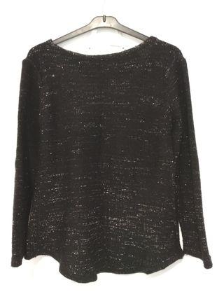 jersey negro y plateado L