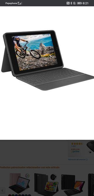 Logitech Rugged Folio - Funda Teclado para iPad 7°
