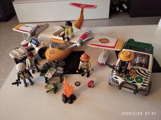 Playmobil,expedición,soldados,lote,avión,África,