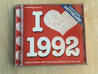 I LOVE 1992 CD UNDERGROUND ANTHEMS