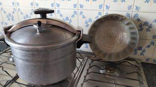 Olla a presión + cesta vapor Vintage