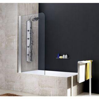 Mampara bañera abatible marco plateado