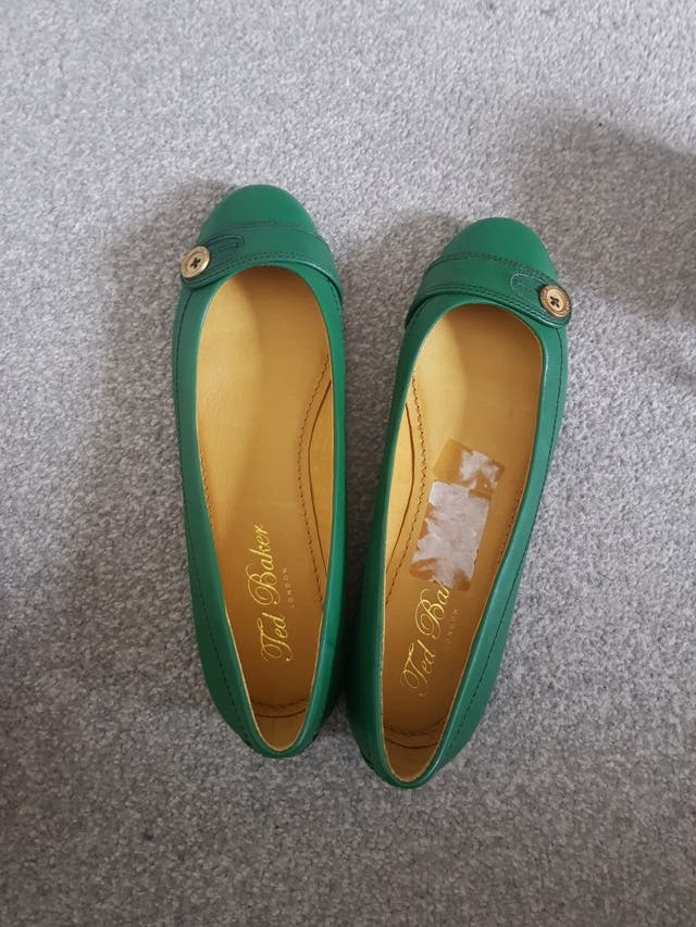 ted baker green flat shoes