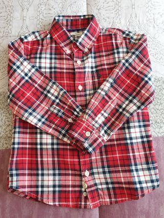 Camisa de manga larga de niño, talla 4-5