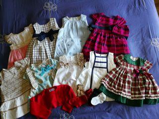 9 vestidos de niña de 6 a 18 meses