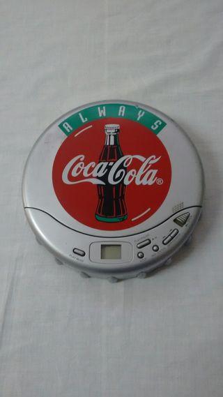 Reproductor CD Vintage Coca-Cola Discman portátil