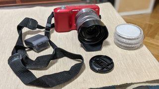 cámara Sony NEX 3 con objetivo 18-55mm
