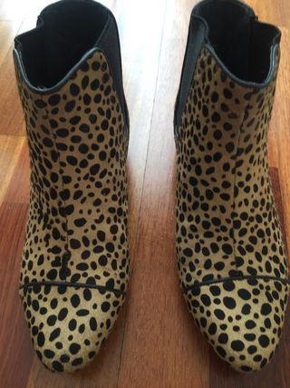 Botines estampado leopardo