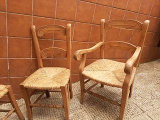 conjunto de sillas estilo rústico mexicano de nea