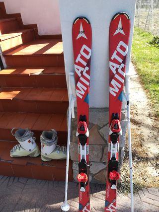 Esquíes + botas +bastones