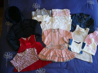 Ropa niña (vestidos, abrigo, camisa)de 24-36 meses