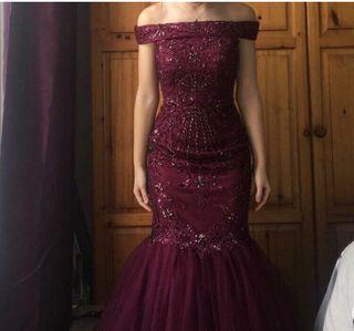 Burgundy Prom Dress