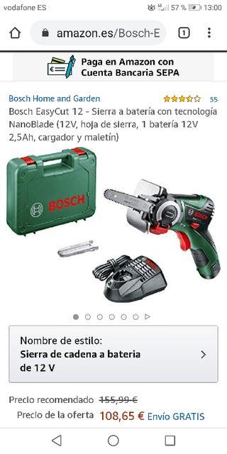 sierra eléctrica nano blade bosch