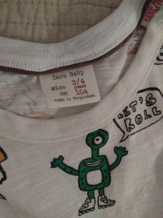lote camiseta zara/ Primark