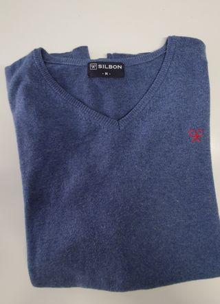 Jersey Silbon azul logo rojo