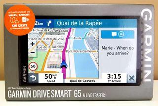 Navegador Garmin DriveSmart 65 MT-S a estrenar!