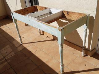 Estructura de mesa para rehabilitar