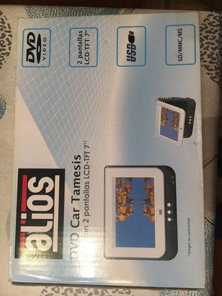 """DVD con 2 pantallas LCD-TFT 7"""""""