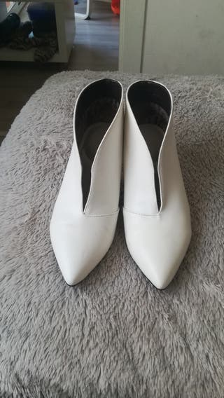 botines blancos impecables