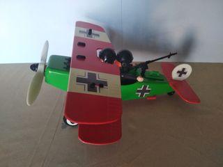 avión biplano alemán guerra mundial Playmobil